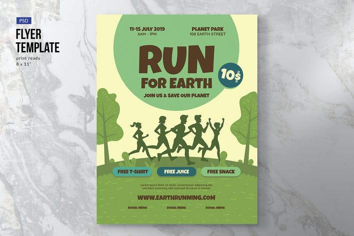 Thumbnail for Earth Run Flyer Template