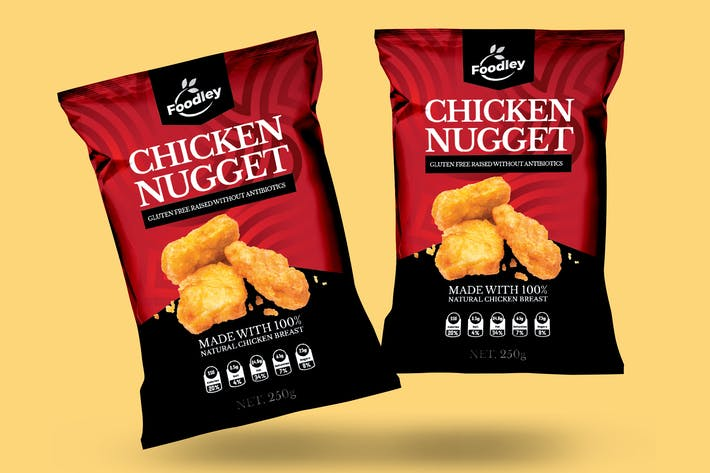 Thumbnail for Chicken Nugget Packaging Design V2