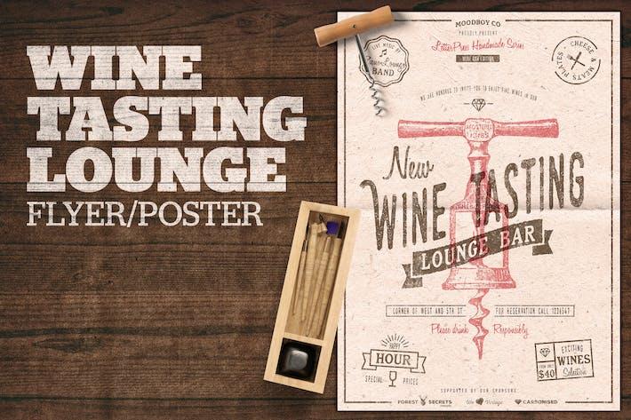 Thumbnail for Wine Tasting Lounge Flyer / Poster