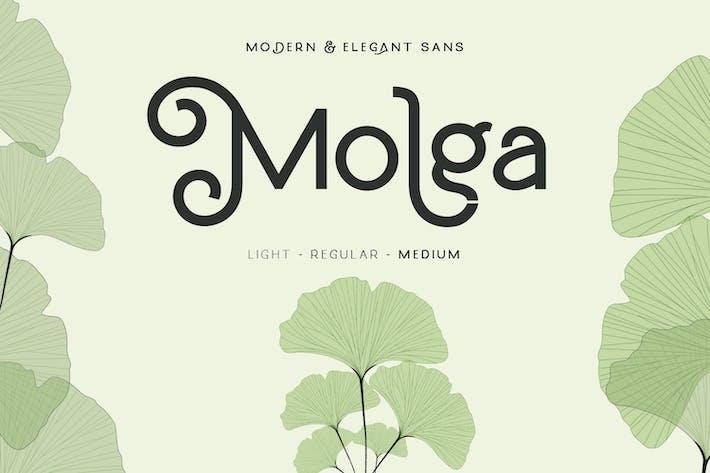 Thumbnail for Molga font