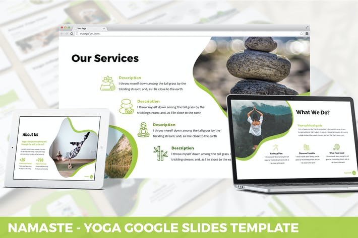 Thumbnail for Namaste - Yoga Google Slides Template