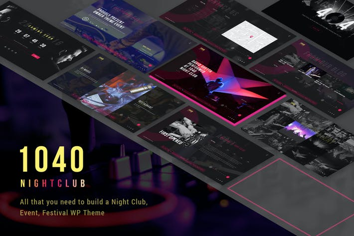 Thumbnail for 1040 Night Club - DJ, Party, Music Club WP Theme