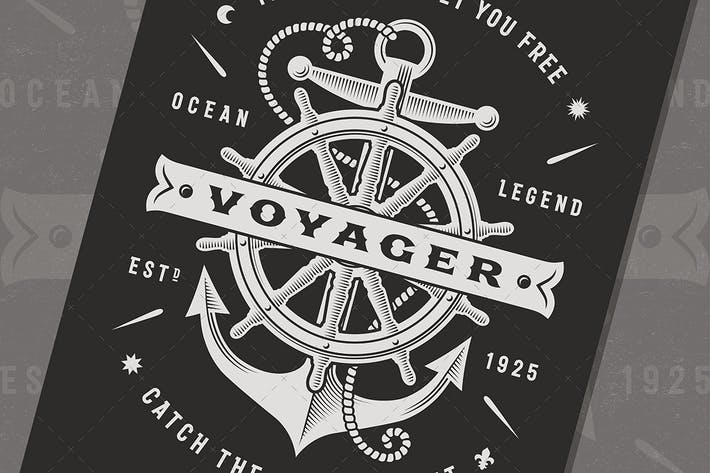 Thumbnail for Vintage Nautical Voyager Typography