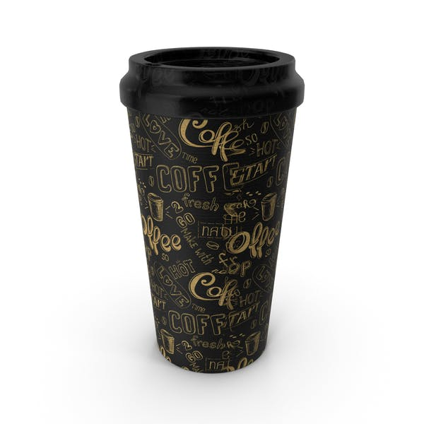 Paper Cup Black Patterned