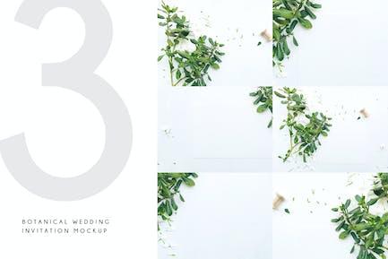 Botanical Wedding Invitation Mockup