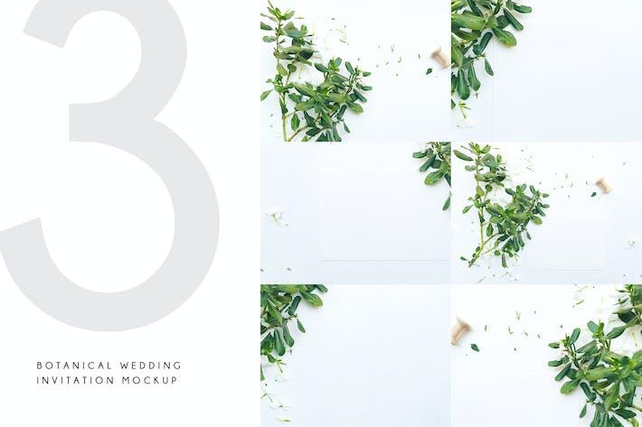 Thumbnail for Botanical Wedding Invitation Mockup