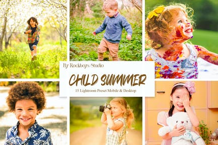 Child Summer Lightroom Presets