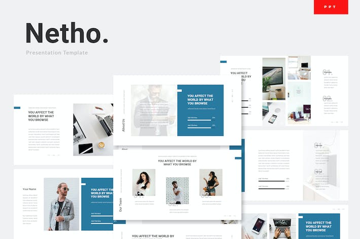 Thumbnail for Netho - Networking Technology Powerpoint Template