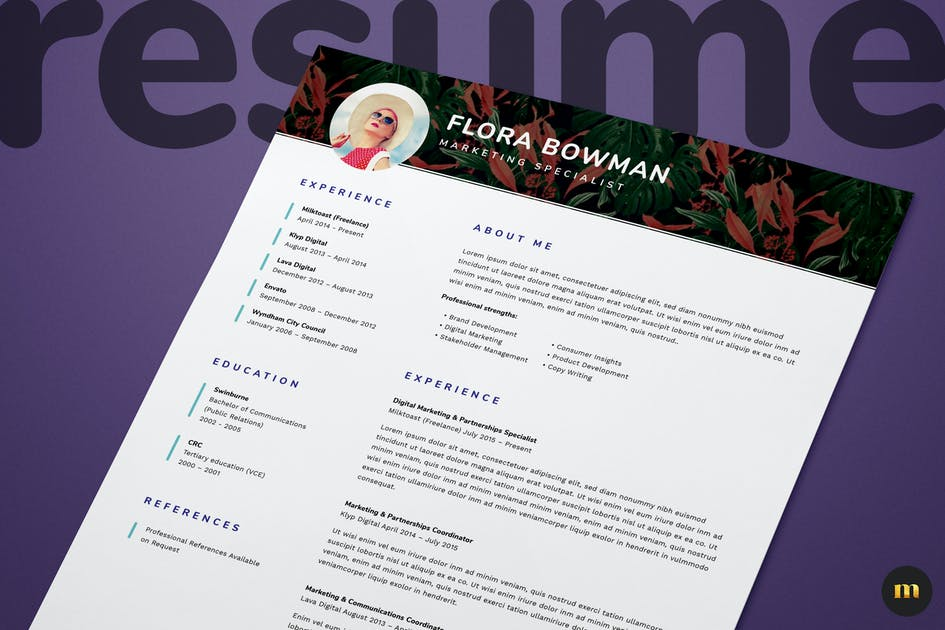 Download Single Page Resume/CV and Cover Letter by milktoast