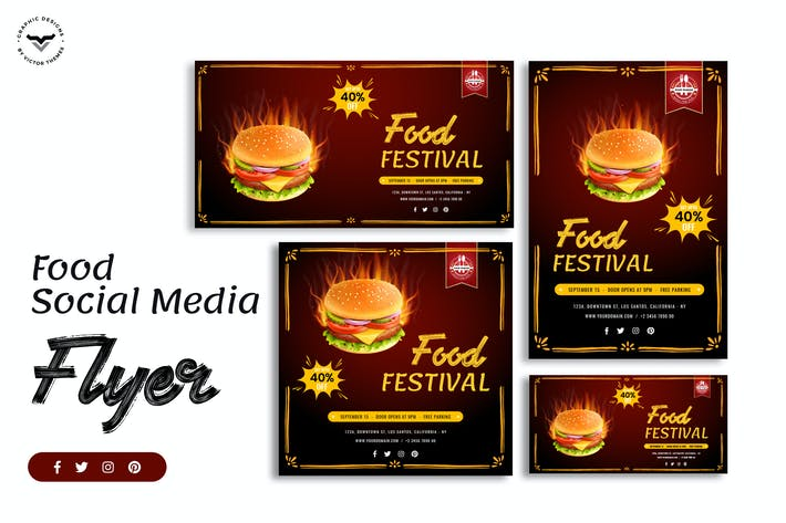 Thumbnail for Fast Food Social Media Template