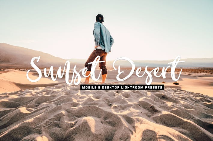 Thumbnail for Sunset Desert Mobile & Desktop Lightroom Presets