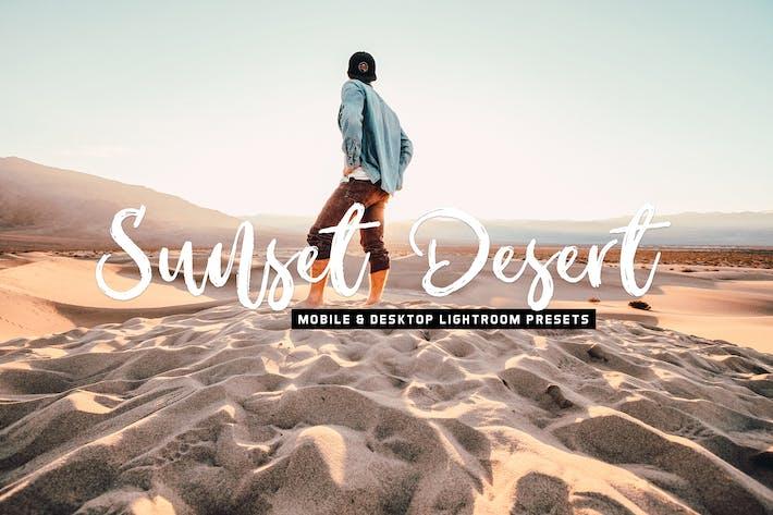 Thumbnail for пресеты для мобильных и настольных компьютеров Sunset Desert