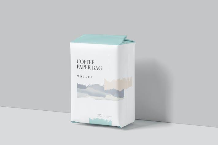 Thumbnail for Coffee Paper Bag Mockup Set Medium Size