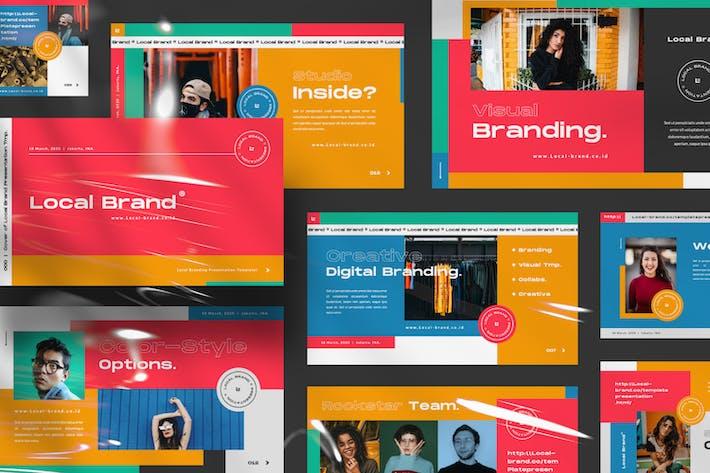 Thumbnail for Локальный бренд креативный бизнес Google слайд