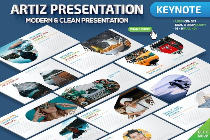 Thumbnail for Artiz Keynote Presentation Template