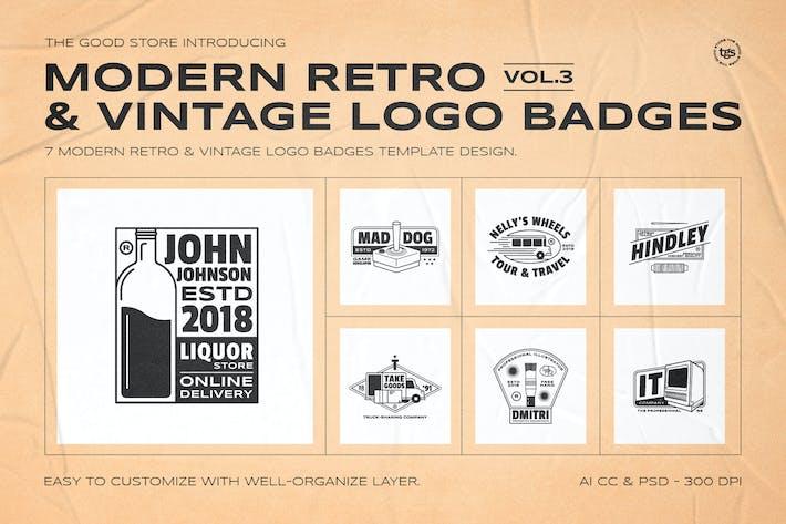 Thumbnail for Retro Logo Badges Set Vol.3