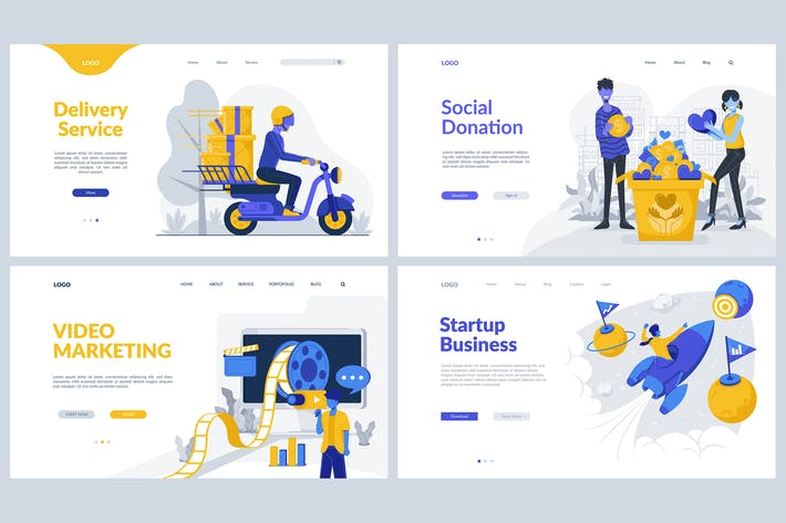 Thumbnail for Marketing Theme - Landing Page Templates