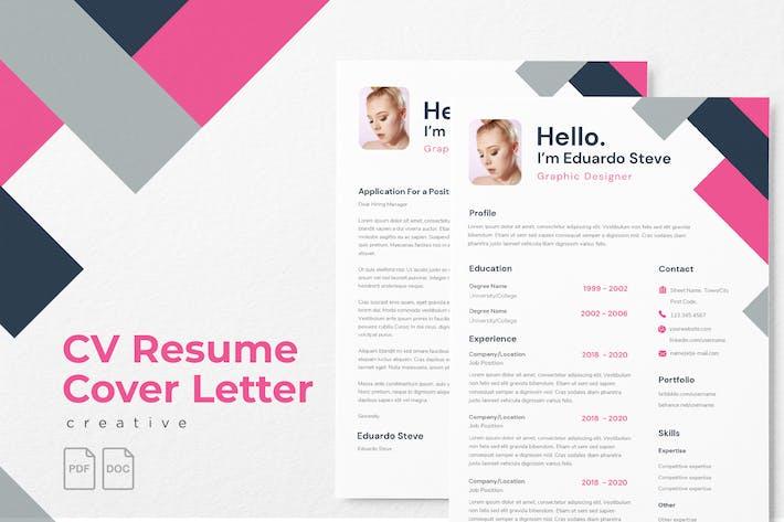 Thumbnail for Eduardo Stevenson - CV Resume Template