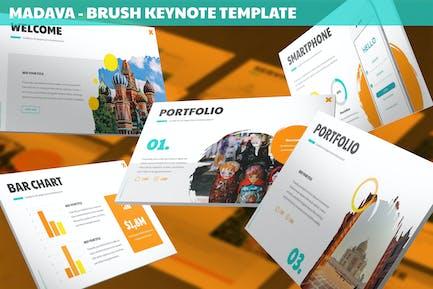 Madava - Brush Keynote Template