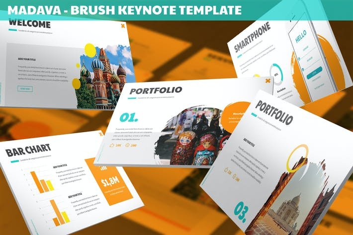 Thumbnail for Madava - Brush Keynote Template