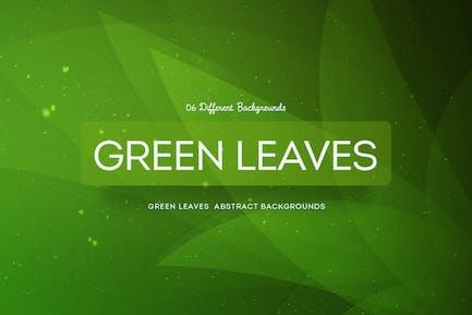 Grüne Blätter Abstrakte Hintergründe COL 4