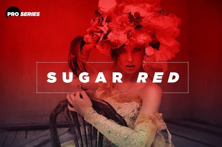 Thumbnail for Sugar Red Photoshop Action