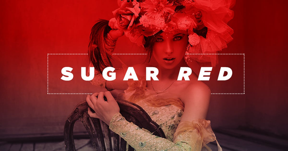 Download Sugar Red Photoshop Action by Layerform