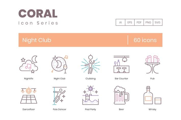Thumbnail for 60 Night Club Line Icons