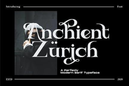 Ancient Zurich - Serif Elegant Font Logotype Brand