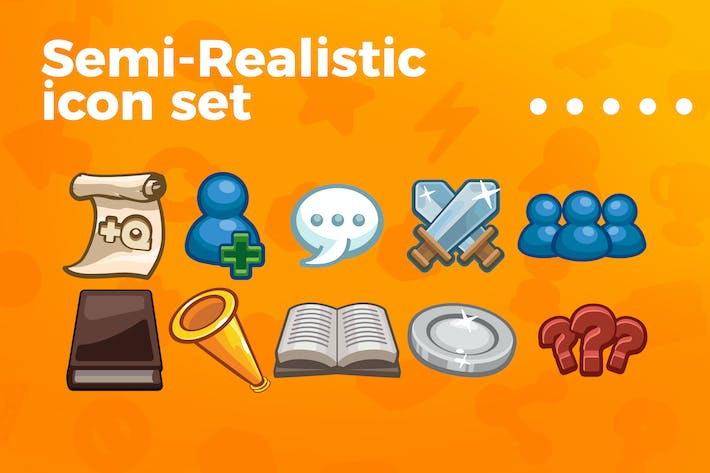 Thumbnail for Games and applications icon set vol 4