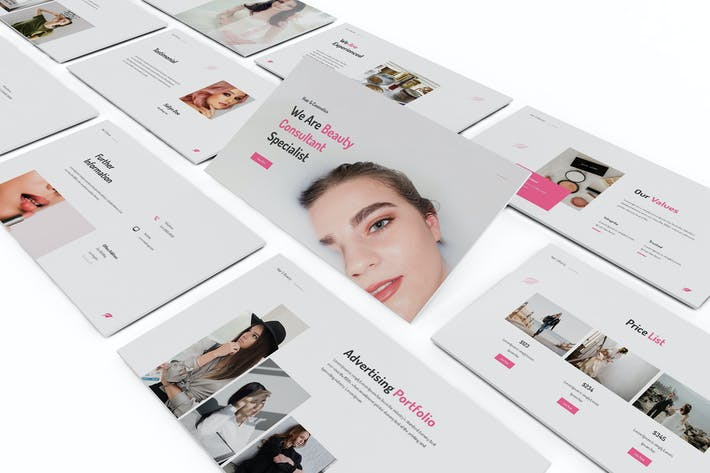 Thumbnail for Makeup Artist Keynote Template