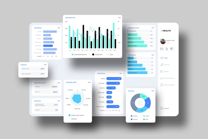 Thumbnail for VHealth Dashboard UI VU