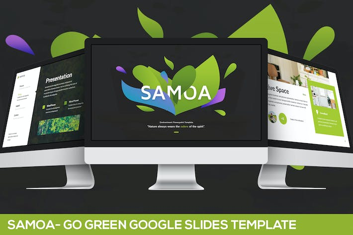 Thumbnail for Samoa - Go Green Kampagne Google Slides Vorlage