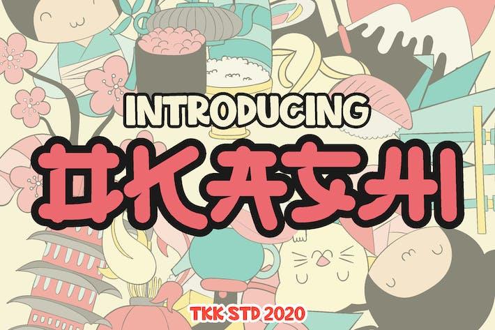 OKASHI - fuente japonesa de imitación