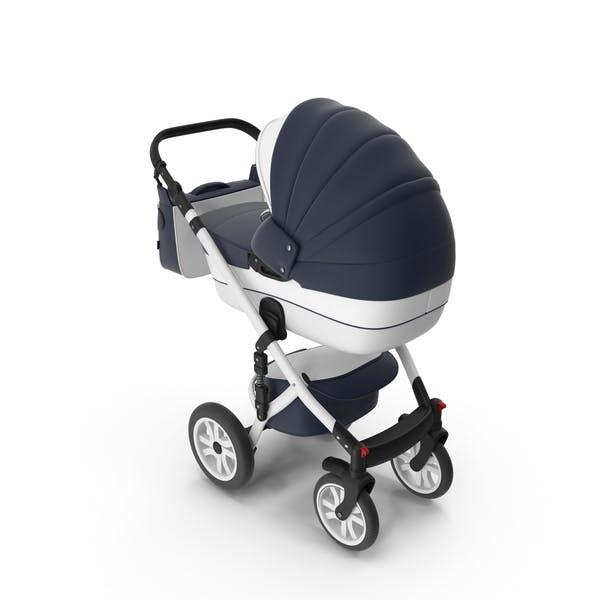 Baby Stroller Dark Blue