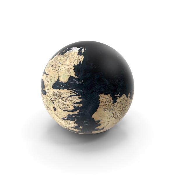 Fantasy-Welt Globus