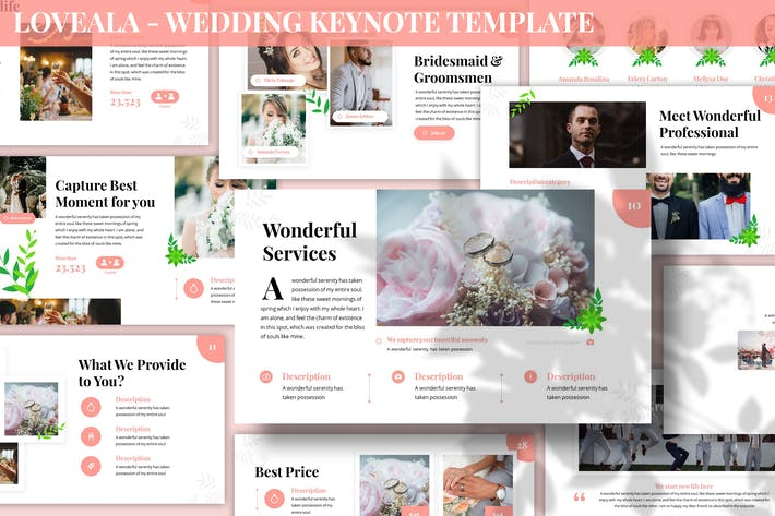 Thumbnail for Loveala - Wedding Keynote Template