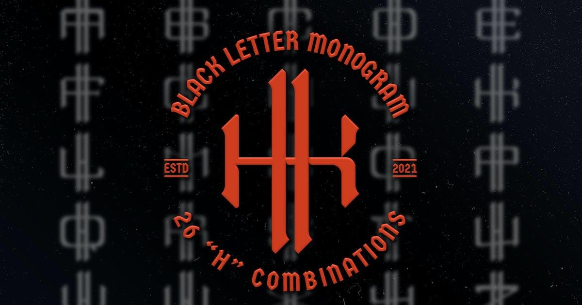 Download H Black Letter Monogram Logo Vol.3 by Farhan_Haikal