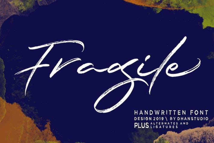 Cover Image For Fragile Script