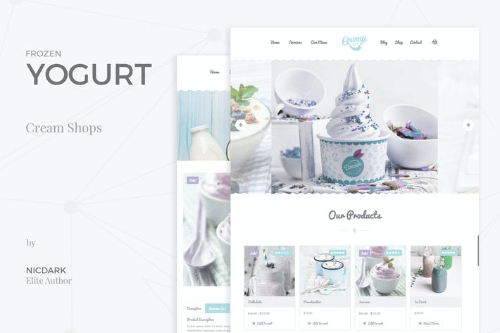 Thumbnail for Frozen Yogurt - PSD Theme