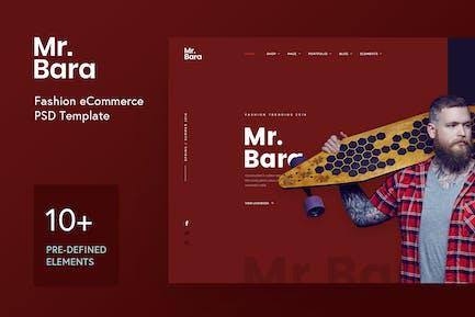 Mr.Bara Fashion Demo Concept PSD Template
