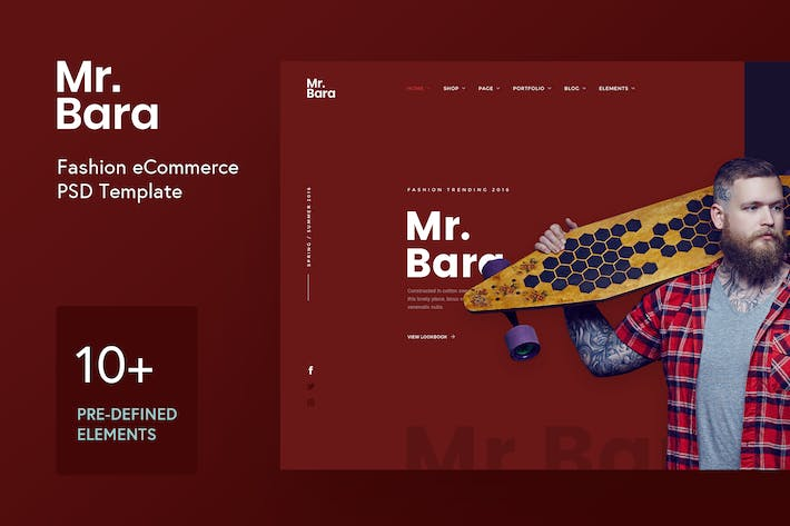 Thumbnail for Mr.Bara Fashion Demo Concept PSD Template