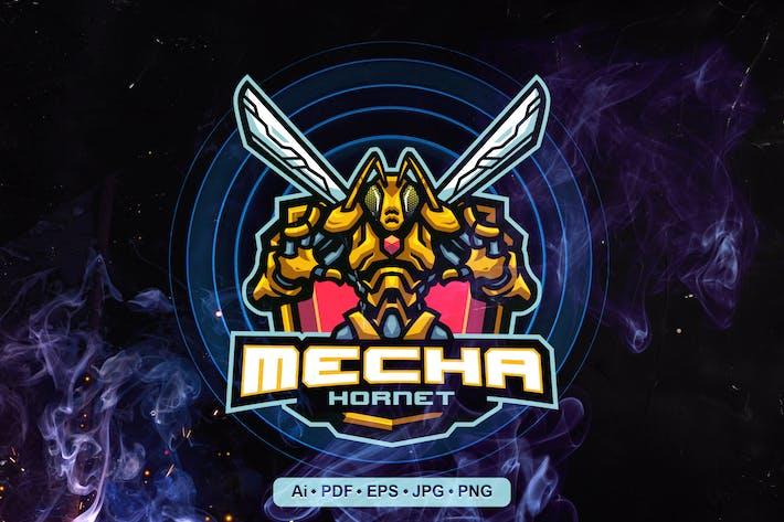 Hornet Animal Mascot Logo