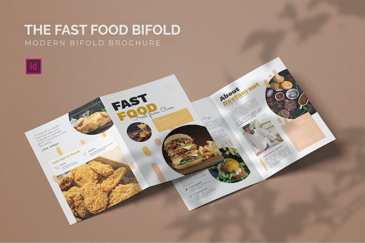 Thumbnail for Fast Food - Bifold Brochure