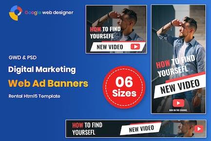 Digital Marketing Banners GWD