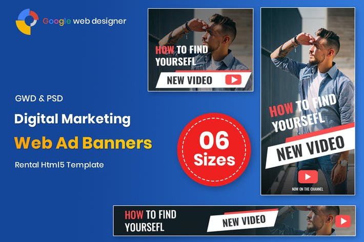Thumbnail for Digital Marketing Banners GWD