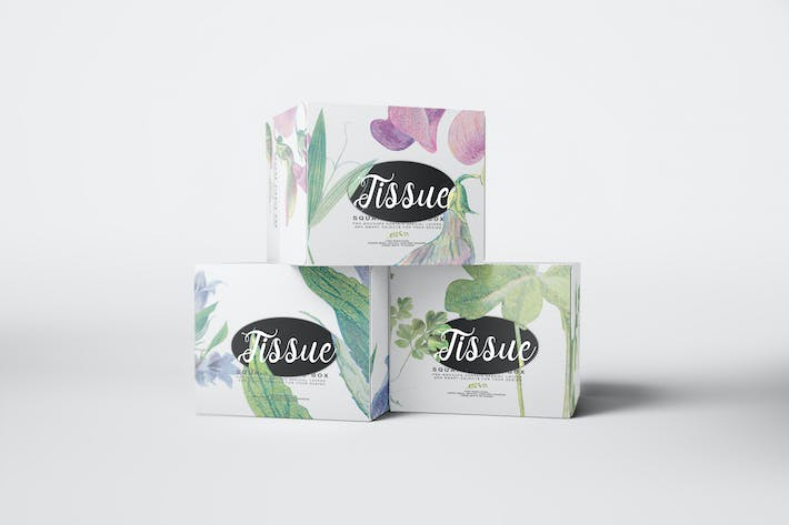 Thumbnail for Quadratische Tissue Box Mockup