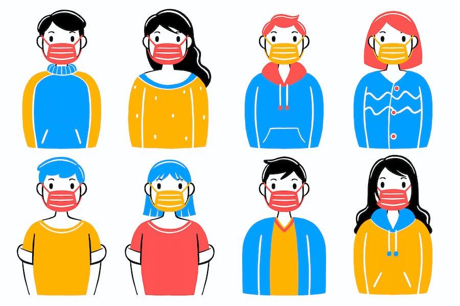 Wear a Mask Illustration #03