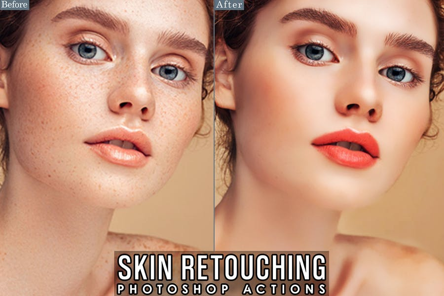 Skin Retouch Actions Photoshop