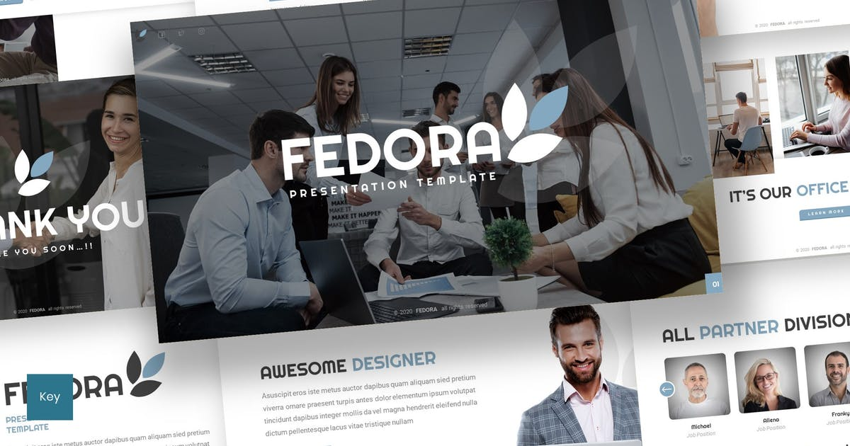 Download Fedora - Business Keynote Template by inspirasign
